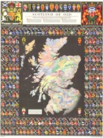 bartholomew clan map of scotland or the scotland of old map
