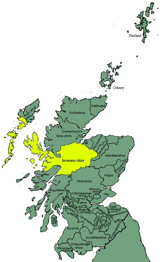 inverness-shire_map