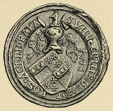 seal of william graham 2nd earl of montrose 1544