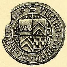 seal of william graham 3rd earl of menteith 1539