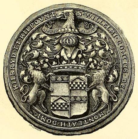 seal of william graham 7th earl of menteith 1636